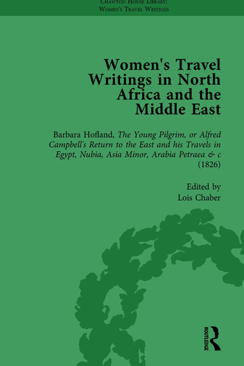 Women's Travel Writings in North Africa and the Middle East, Part I Vol 2 book cover