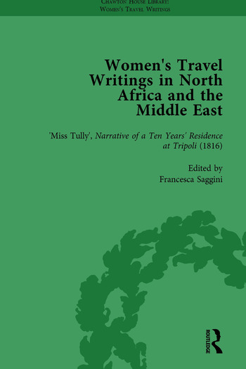Women's Travel Writings in North Africa and the Middle East, Part I Vol 3 book cover