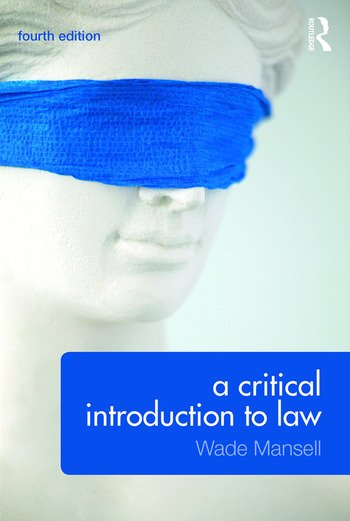 A Critical Introduction to Law book cover
