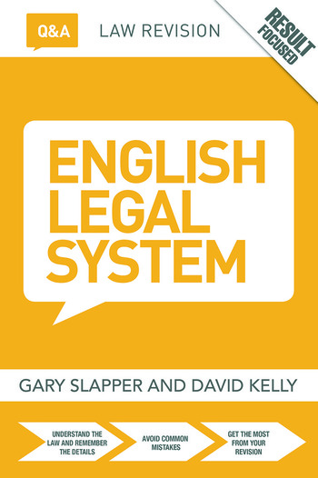 Q&A English Legal System book cover