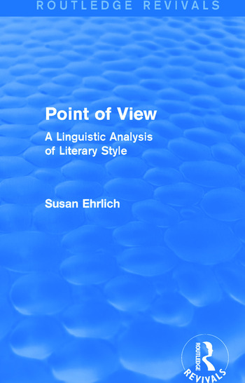 Point of View (Routledge Revivals) A Linguistic Analysis of Literary Style book cover