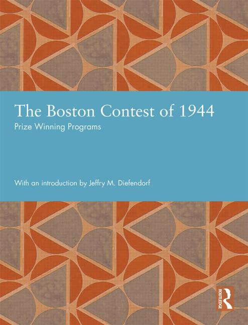 The Boston Contest of 1944 Prize Winning Programs book cover