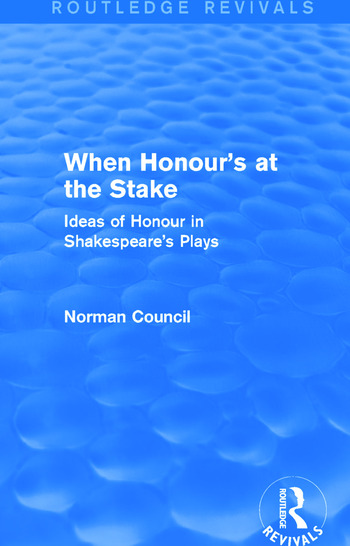When Honour's at the Stake (Routledge Revivals) book cover