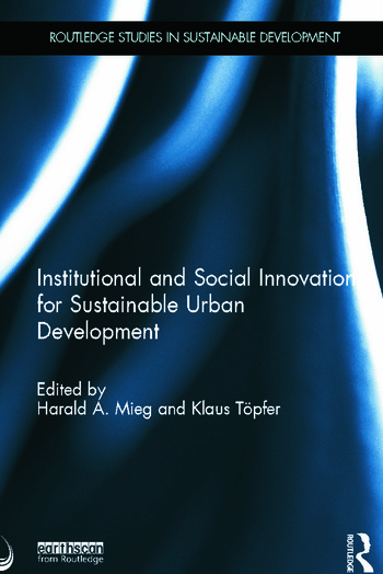 Institutional and Social Innovation for Sustainable Urban Development book cover