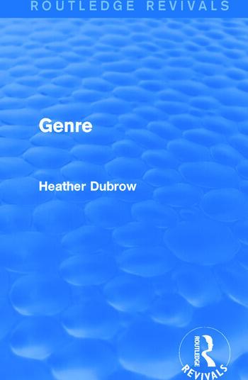 Genre (Routledge Revivals) book cover