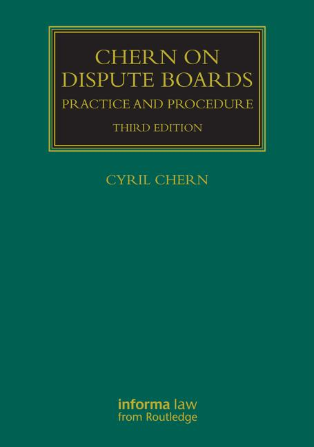 Chern on Dispute Boards book cover