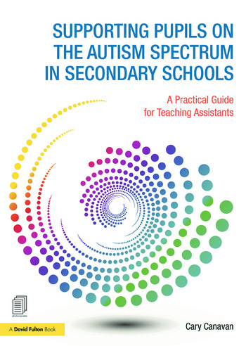Supporting Pupils on the Autism Spectrum in Secondary Schools A Practical Guide for Teaching Assistants book cover