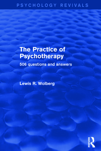 The Practice of Psychotherapy 506 Questions and Answers book cover