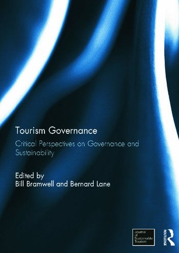 Tourism Governance Critical Perspectives on Governance and Sustainability book cover