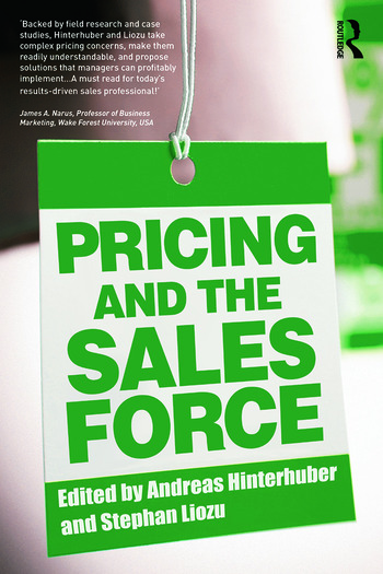 Pricing and the Sales Force book cover