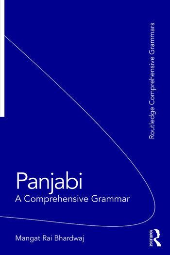 Panjabi A Comprehensive Grammar book cover