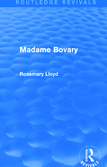 Madame Bovary (Routledge Revivals) book cover