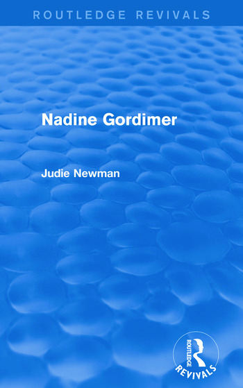 Nadine Gordimer (Routledge Revivals) book cover
