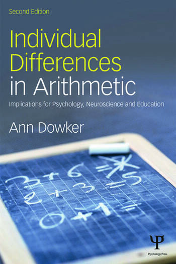 Individual Differences in Arithmetic Implications for Psychology, Neuroscience and Education book cover