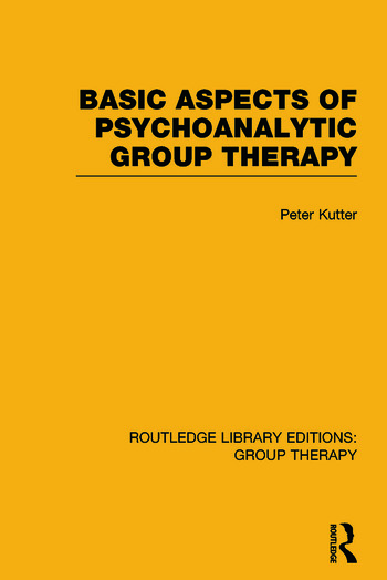 Basic Aspects of Psychoanalytic Group Therapy book cover