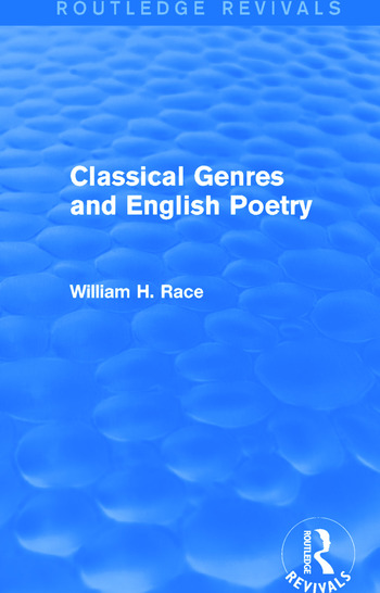 Classical Genres and English Poetry (Routledge Revivals) book cover