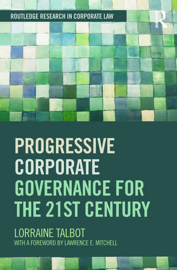 Progressive Corporate Governance for the 21st Century book cover