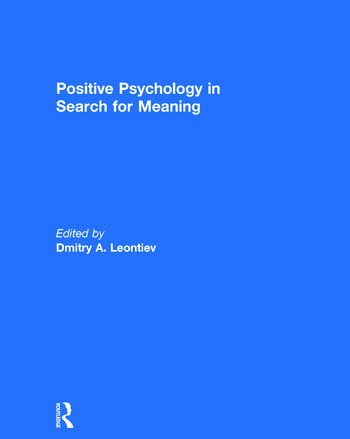 Positive Psychology in Search for Meaning book cover