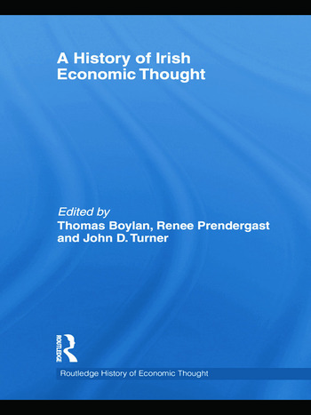 A History of Irish Economic Thought book cover