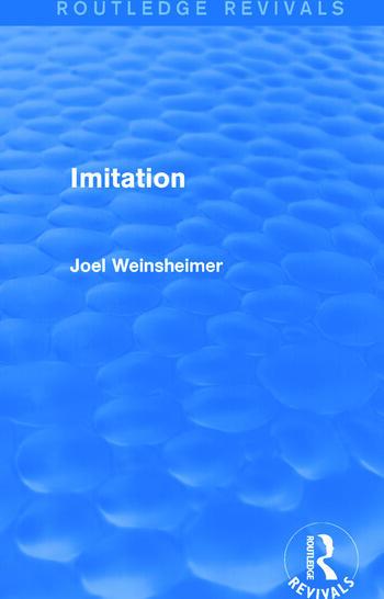 Imitation (Routledge Revivals) book cover