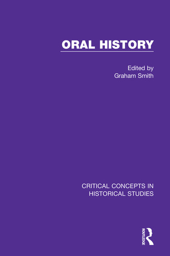 Oral History book cover