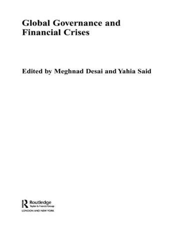 Global Governance and Financial Crises book cover