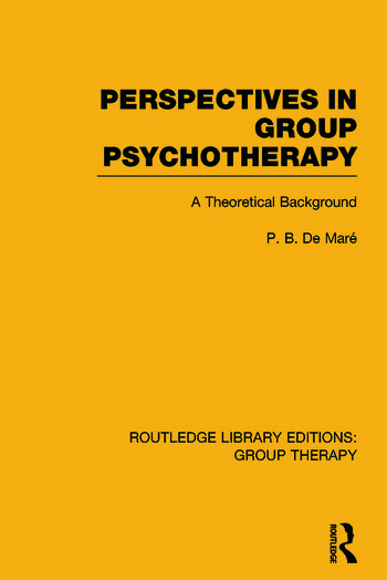 Perspectives in Group Psychotherapy A Theoretical Background book cover
