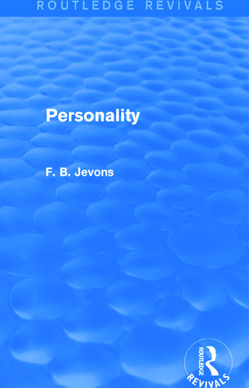 Personality (Routledge Revivals) book cover