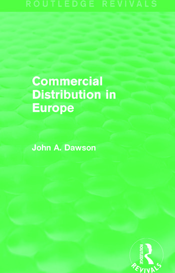 Commercial Distribution in Europe (Routledge Revivals) book cover