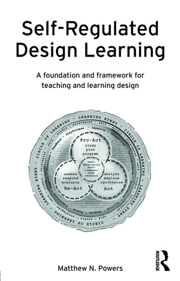 Self-Regulated Design Learning A Foundation and Framework for Teaching and Learning Design book cover