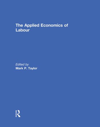 The Applied Economics of Labour book cover