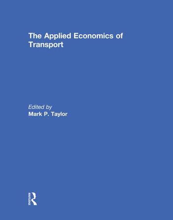 The Applied Economics of Transport book cover