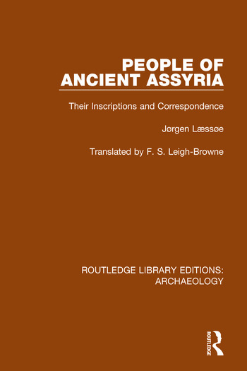 People of Ancient Assyria Their Inscriptions and Correspondence book cover