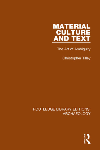 Material Culture and Text The Art of Ambiguity book cover