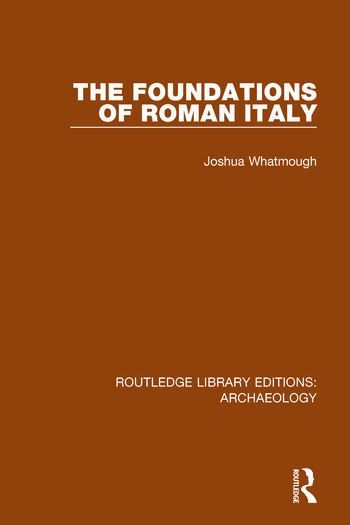 The Foundations of Roman Italy book cover