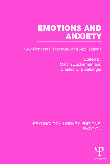 Emotions and Anxiety New Concepts, Methods, and Applications book cover