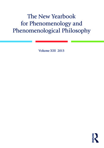 The New Yearbook for Phenomenology and Phenomenological Philosophy Volume 13 book cover