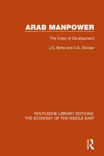 Arab Manpower The Crisis of Development book cover