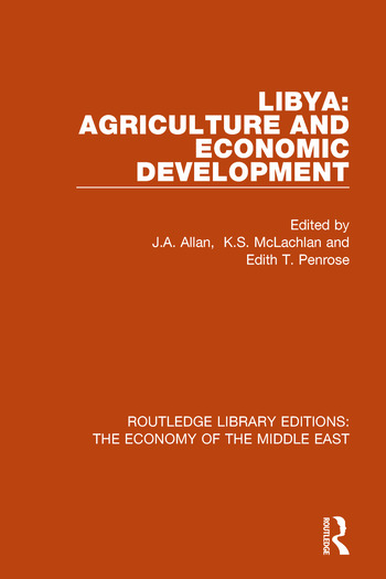 Libya Agriculture and Economic Development book cover