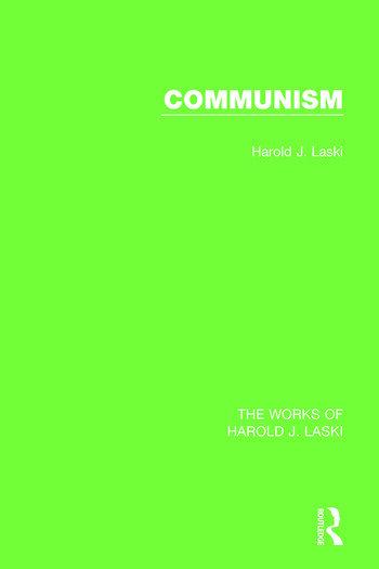 Communism (Works of Harold J. Laski) book cover