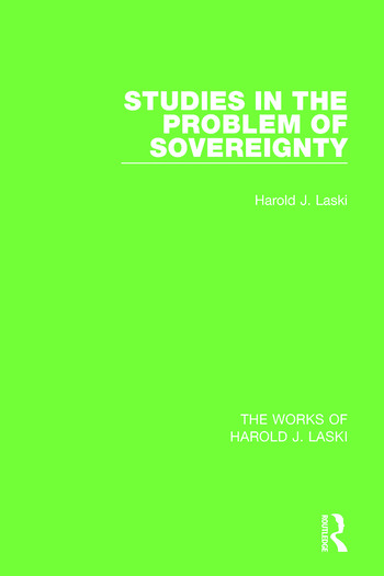 Studies in the Problem of Sovereignty (Works of Harold J. Laski) book cover
