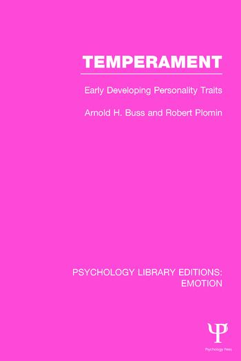 Temperament Early Developing Personality Traits book cover