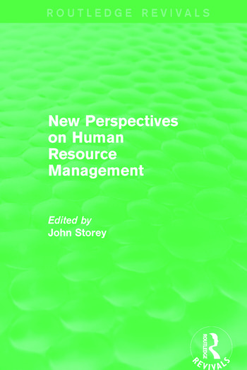 New Perspectives on Human Resource Management (Routledge Revivals) book cover