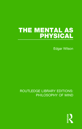 The Mental as Physical book cover