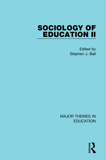 Sociology of Education II book cover