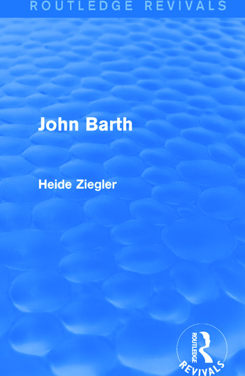John Barth (Routledge Revivals) book cover