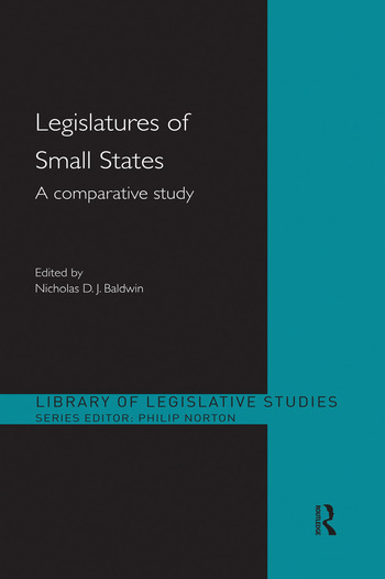 Legislatures of Small States A Comparative Study book cover