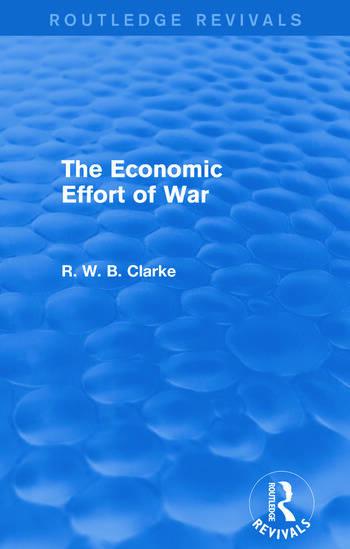 The Economic Effort of War (Routledge Revivals) book cover