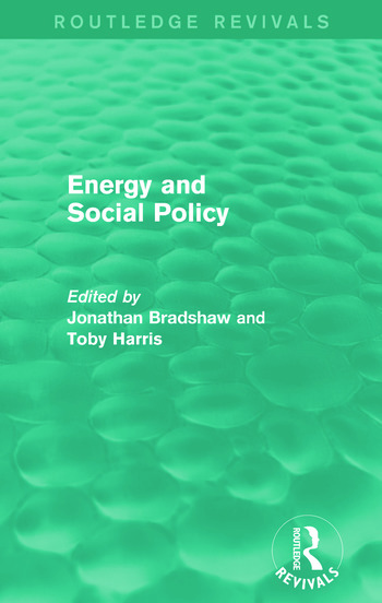 Energy and Social Policy (Routledge Revivals) book cover