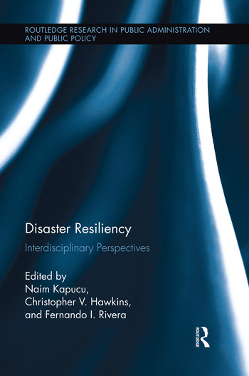 Disaster Resiliency Interdisciplinary Perspectives book cover
